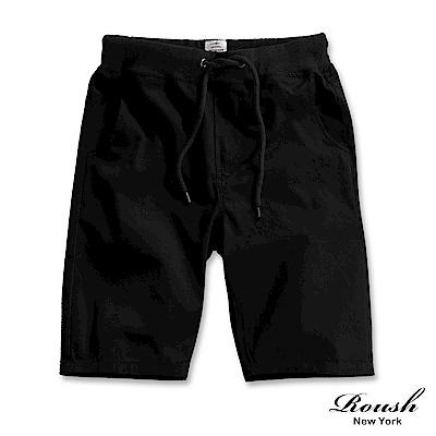 Roush 螺紋抽繩設計水洗短褲(6色)