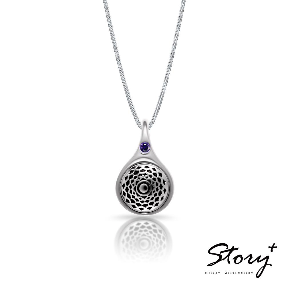 STORY故事銀飾-脈輪系列-頂輪Crown Chakra純銀項鍊