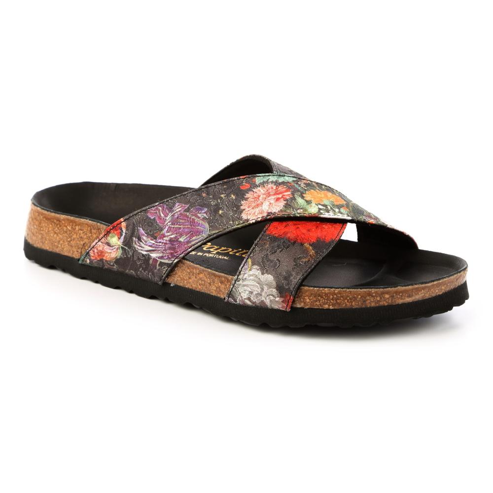 勃肯papillio 1007098。戴通納 交叉拖鞋(古典花卉)