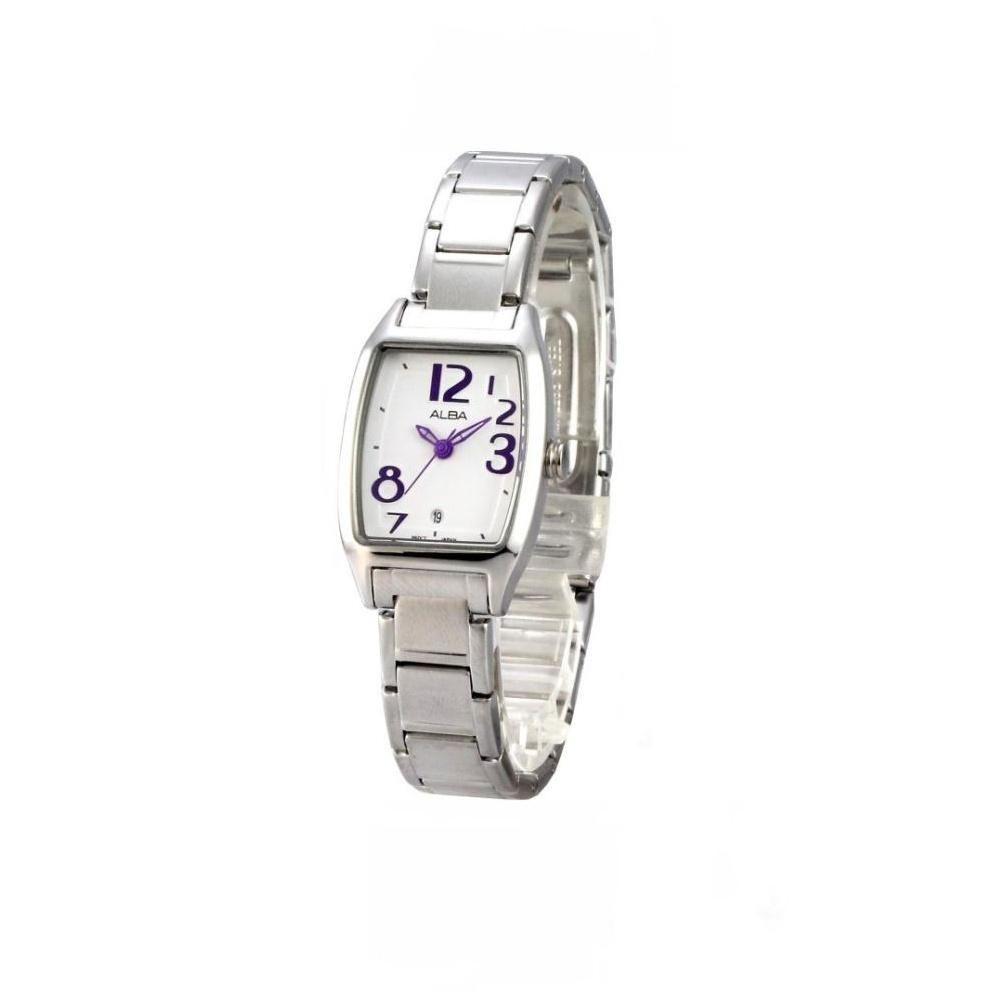ALBA 歡樂時光酒樽魅力腕錶(AH7425X1)-白x紫/20mm