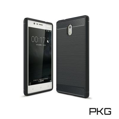 PKG  Nokia5 抗震防摔手機殼-碳纖維紋系列-紳士黑