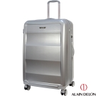 ALAIN DELON 亞蘭德倫 29吋極致碳纖維紋系列旅行箱(銀)