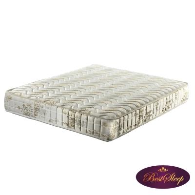倍斯特手工名床-兩線彈力Q棉硬式彈簧床墊(7尺雙人特大)