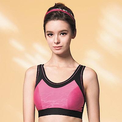 華歌爾 TRAINING 系列 A-B 罩杯專業運動胸罩 (魅力粉)