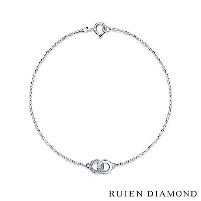 RUIEN DIAMOND 輕珠寶系列 7分 14K白金 鑽石手鍊