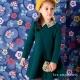 les-enphants-復古小花格紋洋裝-橄欖綠