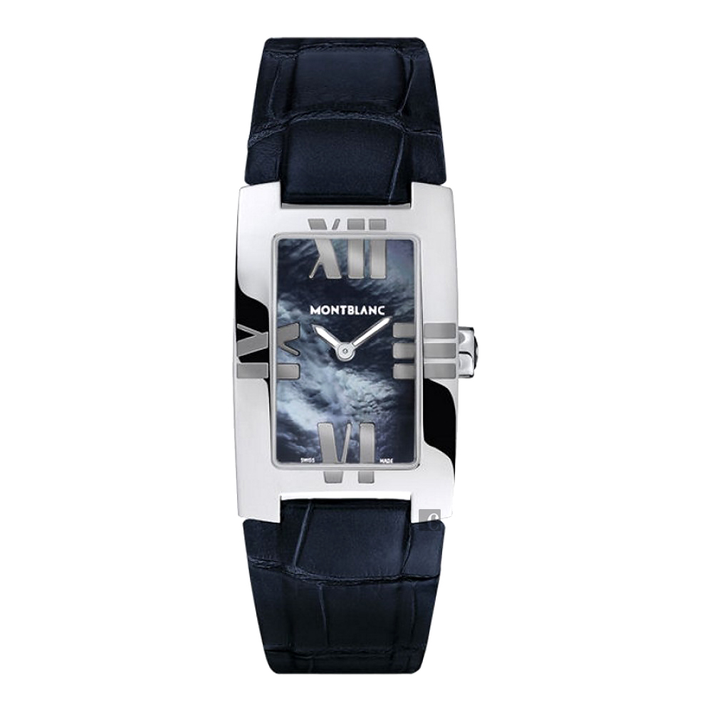 MONTBLANC 萬寶龍 Lady Elegance系列石英腕錶104294-珍珠貝x藍