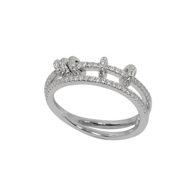 apm MONACO法國精品珠寶 閃耀環形小圈鑲鋯戒指