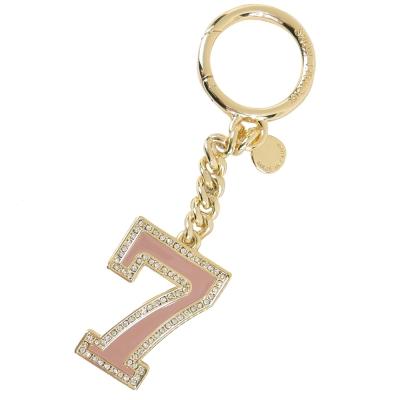 MICHAEL KORS LUCKY 7 鑰匙圈(粉)