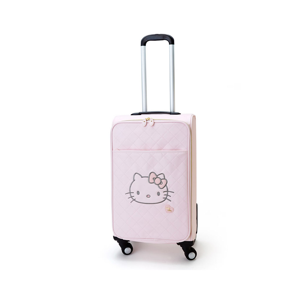 Sanrio HELLO KITTY珍珠粉紅系列PU皮革20吋拉桿旅行箱