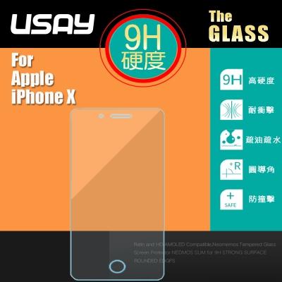 USAY Apple iPhone X 鋼化玻璃保護貼(兩入特價198 鋼保)