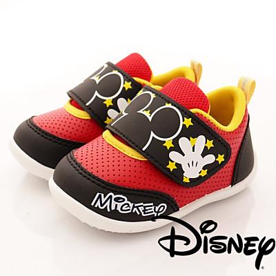 迪士尼童鞋-米奇輕軟學步款-ON17217黑紅(寶寶段)