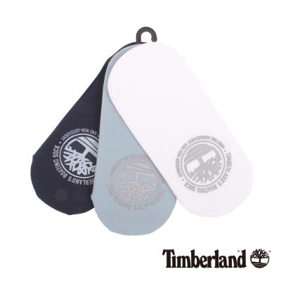 Timberland 女款深藍涼感材質純色襯墊船型襪