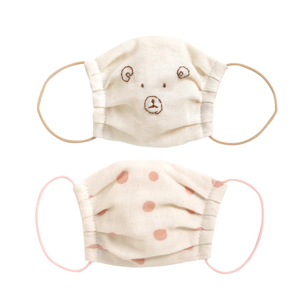 NAOMI ITO KUMA波點熊口罩二件組(粉紅)