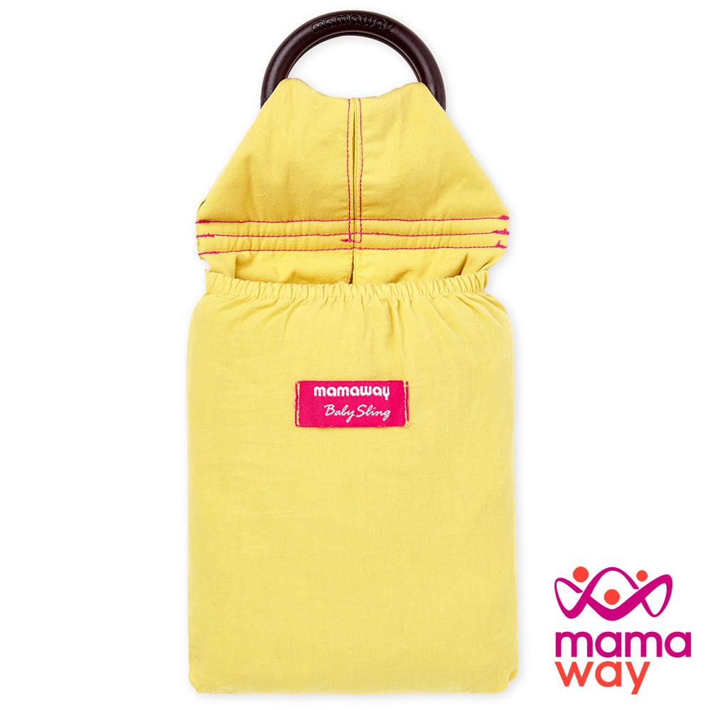 Mamaway 水洗色超柔軟純色育兒揹巾(萊姆黃)