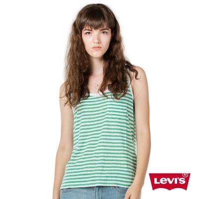 Levis 背心 女裝 白綠條紋
