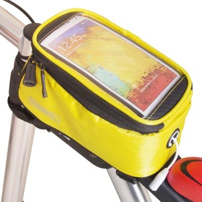色彩繽紛 自行車觸屏手機置物包(附耳機延長線)-黃色