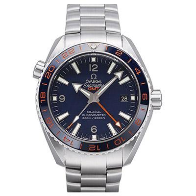 OMEGA 歐米茄 Planet Ocean 600米GMT 鍊帶藍面腕錶-43.5mm