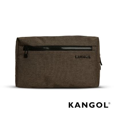 KANGOL 韓國經典側背休閒包/學生包/情侶包-混織棕 KG1152