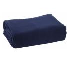 [快]onemall.99雙素面超細纖維袖毯-藍色