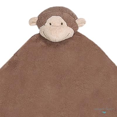 美國 Angel Dear 大頭動物嬰兒毛毯 (小猴)