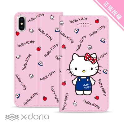 Hello Kitty iPhone X 彩繪磁吸皮套 - 點心