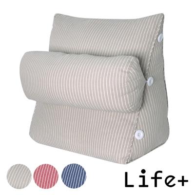 Life Plus 簡單生活舒壓萬用靠枕/抱枕/腰靠枕 (卡其條紋G)