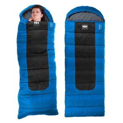 PUSH! 登山戶外用品 超大號帶帽型睡袋四季空調被可拼接睡袋L號 P28