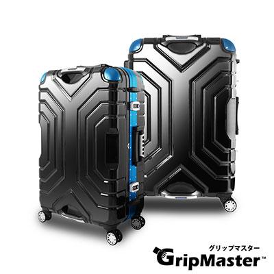 日本GRIPMASTER  27吋 經典黑(深藍框)  王者霸氣 雙把手硬殼鋁框行李箱
