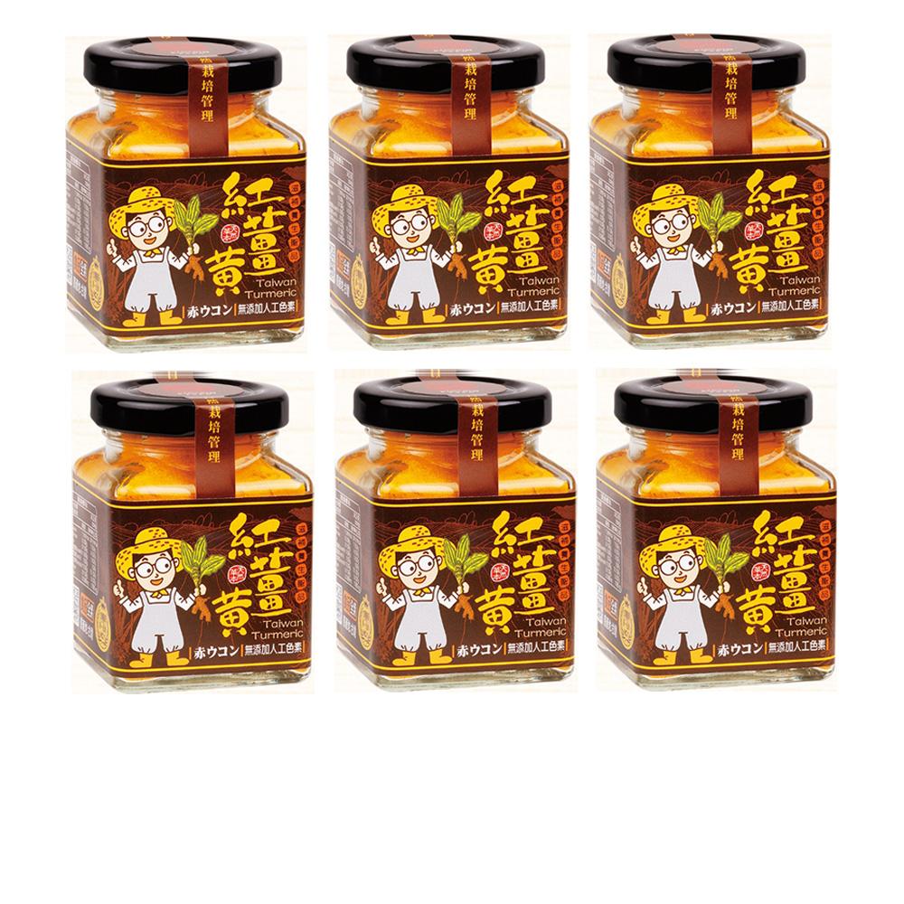 豐滿生技 台灣紅薑黃-薑小瓶6入組(50g/瓶)