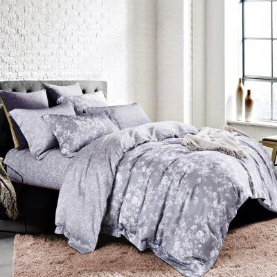 Ania Casa 天絲 TENCEL- 加大鋪棉兩用被套床包四件組- 花妍-灰