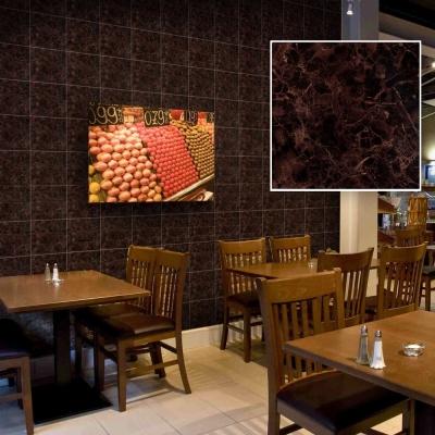 韓國進口DIY防水藝術瓷磚貼 壁貼 石紋棕F 10片