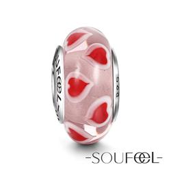 SOUFEEL索菲爾 925純銀珠飾 心心念念 琉璃珠