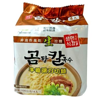 韓味不二pulmuone 牛骨湯刀切麵(100gx4入)