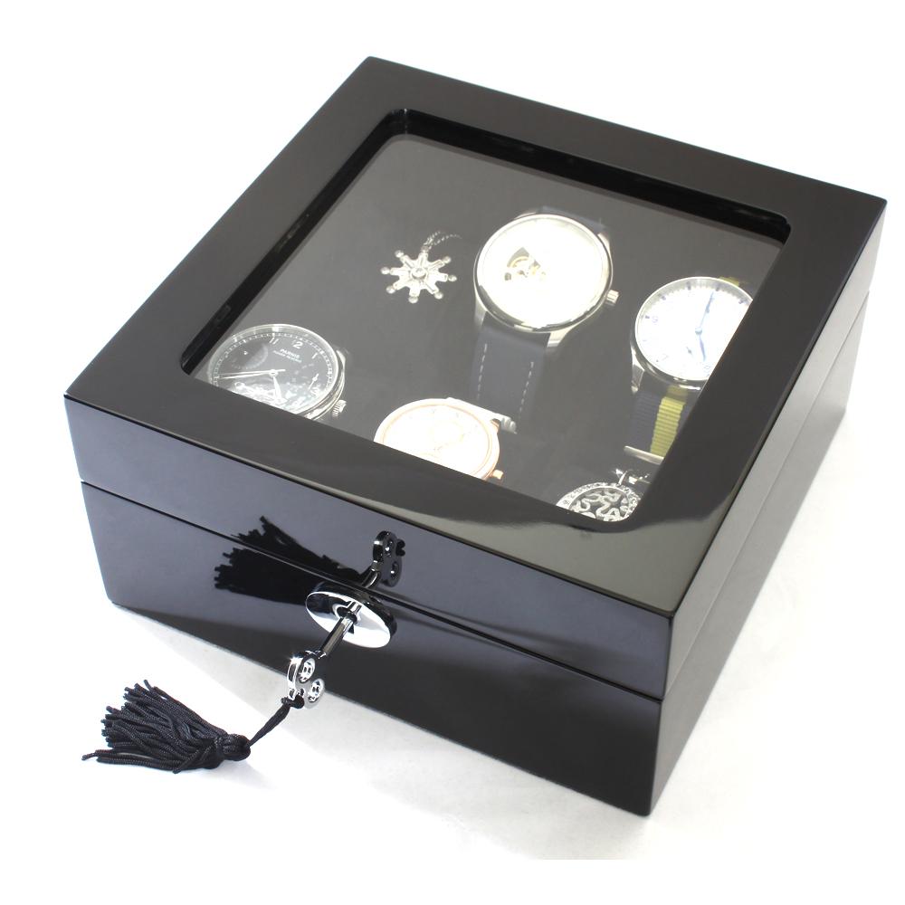 PARNIS BOX手錶 黑鋼琴烤漆6只裝 原木手錶收藏盒/收納錶盒 (鋼琴01-1) 禮