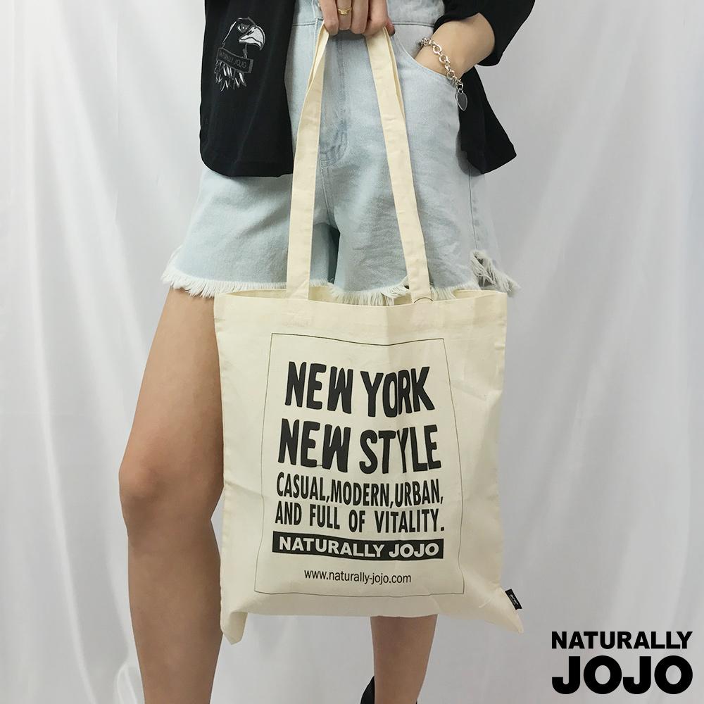 NATURALLY JOJO NEW YORK  帆布袋(淺卡其)