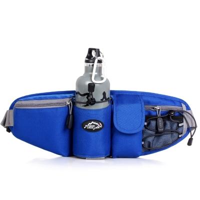 6602 BU藍色 戶外多功能水壺腰包/斜背包