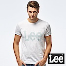 Lee 點狀LOGO印刷圓領短TEE-男款-白