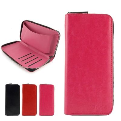 Miravivi 5吋通用 簡約時尚皮夾式皮革手機袋
