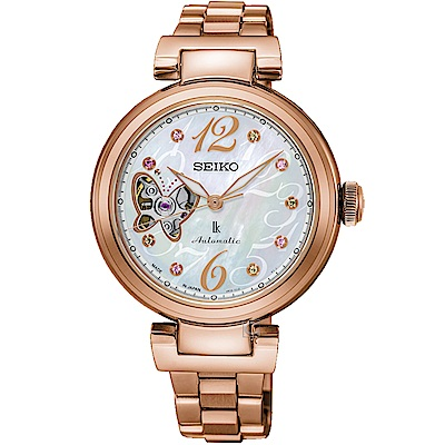 SEIKO精工LUKIA炫燦蝶戀機械限量腕錶(4R38-01M0G SSA800J1)
