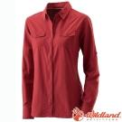 Wildland 荒野 W1201-07酒紅 女 拉鍊可調節抗UV襯衫