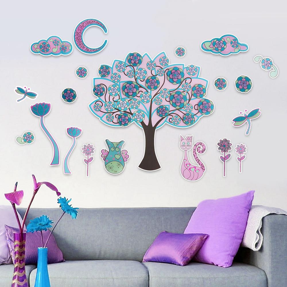 【Wally Fun】3D立體PVC壁貼 ~ 神奇的魔幻樹 (LOK1010)