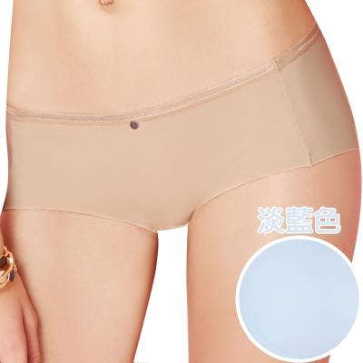 思薇爾 嗨Q Bra系列M-XL素面低腰平口褲(淡藍色)