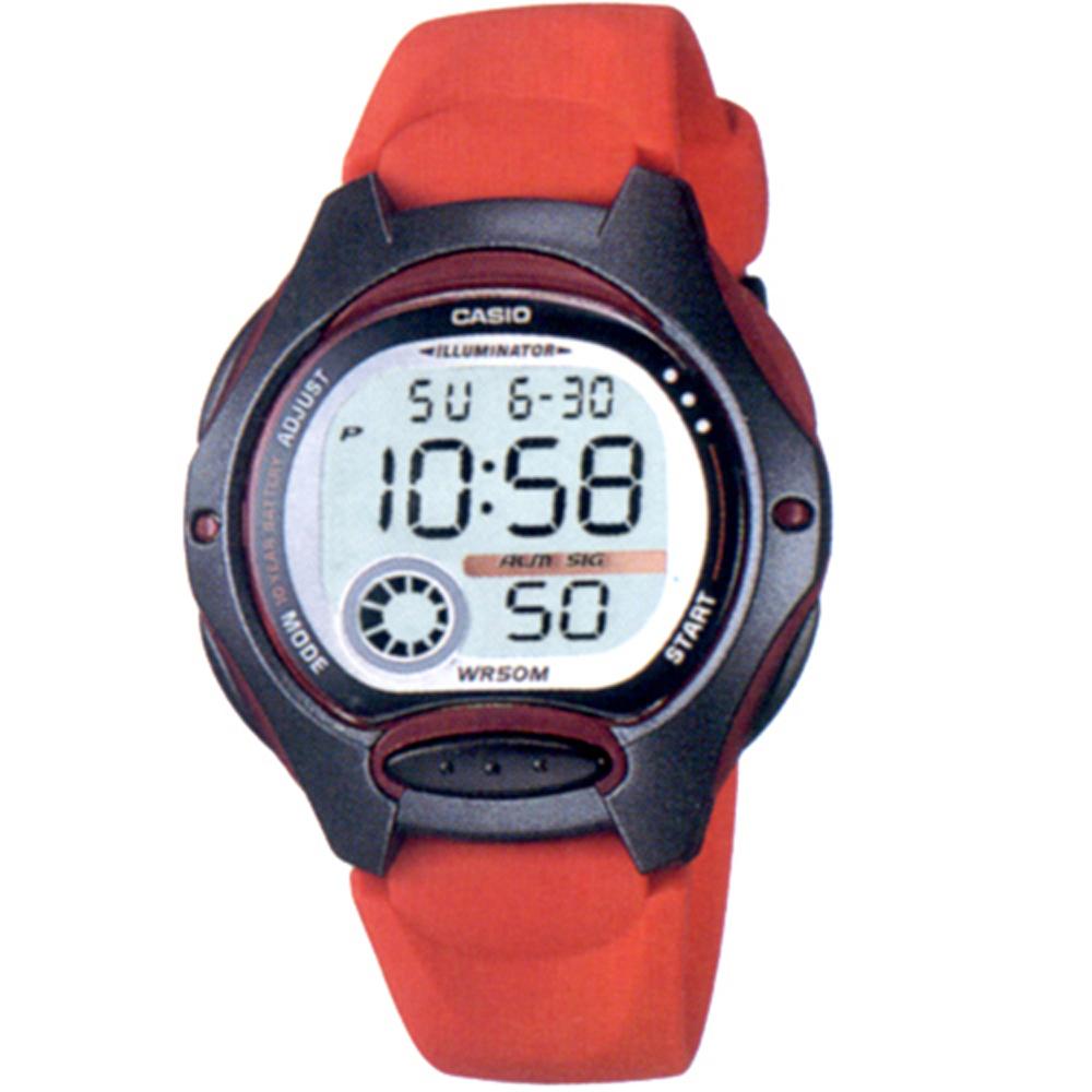 CASIO 超時空玩家電子錶(LW-200)-黑/藍/紅/粉紅/白
