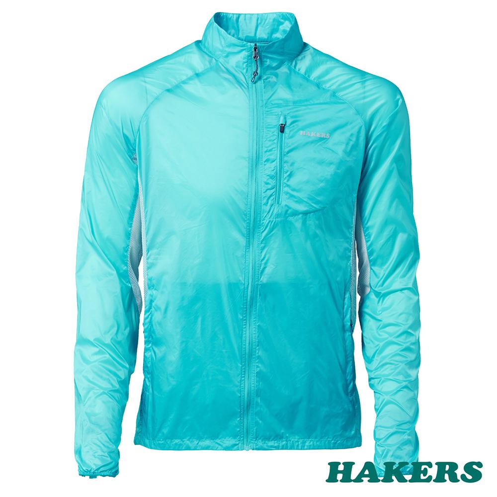 【HAKERS 哈克士】男-超輕量防風外套(天使藍)