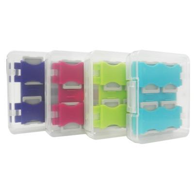 馬卡龍8片裝microSD卡專用收納盒(四色)+黑色版12片卡盒