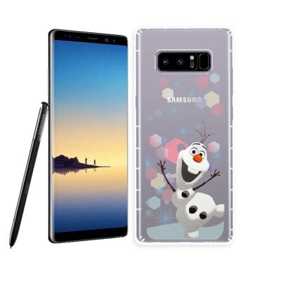 冰雪奇緣展場限定版 三星 Samsung Note8 空壓殼(彩色雪花雪寶)
