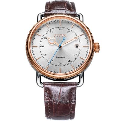 FIYTA飛亞達 經典系列復古機械錶款(GA802006.MWR)-銀色/42 mm