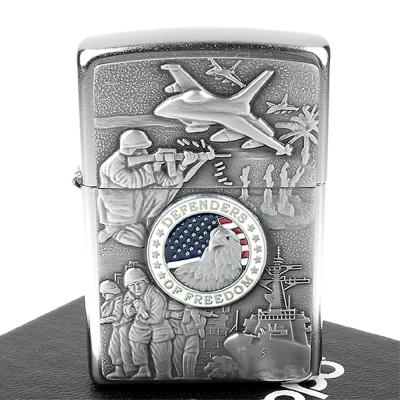 【ZIPPO】美系~Joined Forces-陸海空聯合捍衛自由圖案設計打火機