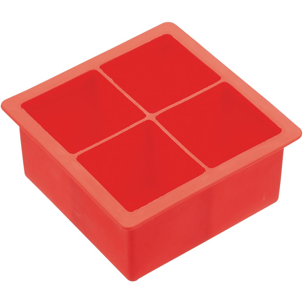KitchenCraft 四格方塊製冰盒(紅)